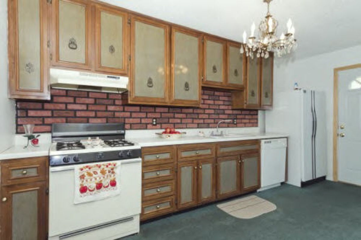 These  Six of the Ugliest Kitchens You ve Ever Seen   KUKUN. 2 Different Color Kitchen Cabinets. Home Design Ideas