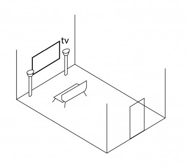 placing the tv