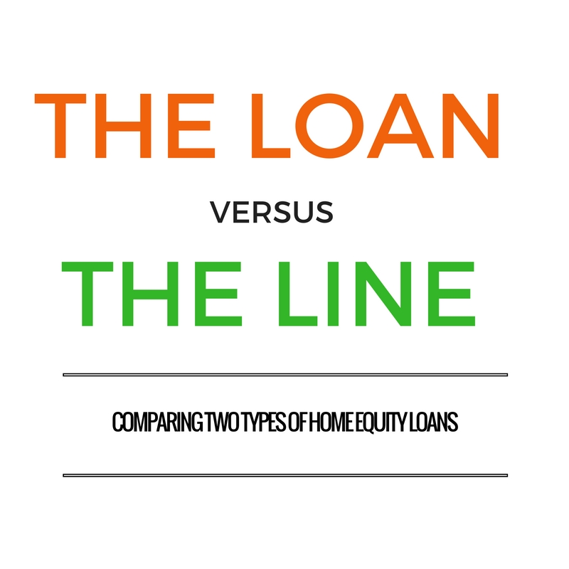The Loan vs The Line: Home Equity Loans (Infographic) - KUKUN
