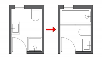small bathroom layout alignment - Small Bathroom Floor Plans