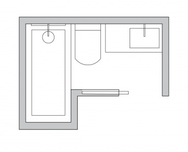 L-shaped Bathroom Layout