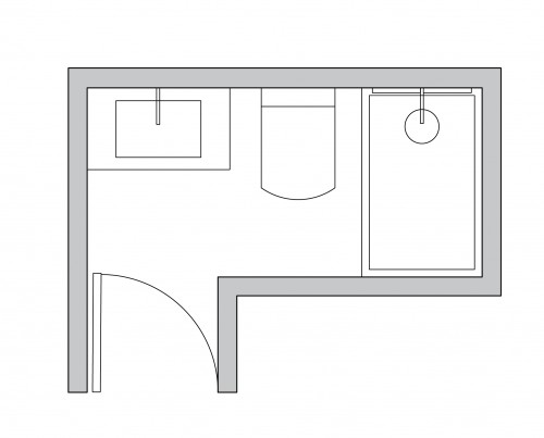 l shaped bathroom layouts