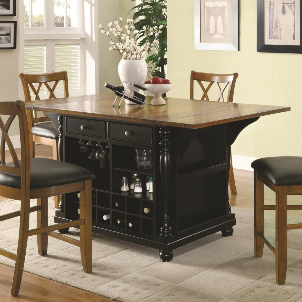 Dining room furniture arrangement ideas and tips kukun for Kitchen island with drawers and seating
